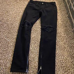 MNML distressed skinny slim jeans pants 29